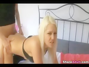 GF Doggy Fucked On The Stairs