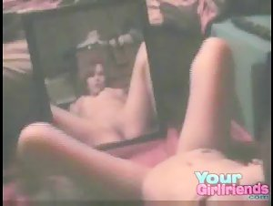 Pussy Fingering In The Mirror