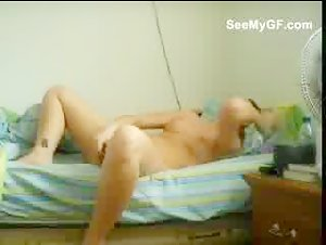 girlfriend caught masturbating