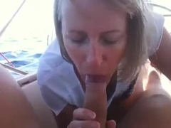 Blonde Wife Giving Head on a Boat Trip