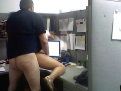 Quick office fuck with milf