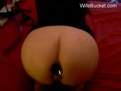 Wife loves bondage - buttplug ready!!!