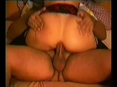 Slut rides with my cock deep in her butt